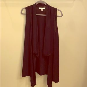 Michael Kors Black Cardigan Vest